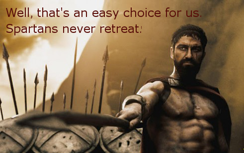 Ecard with quote about choice from movie 300