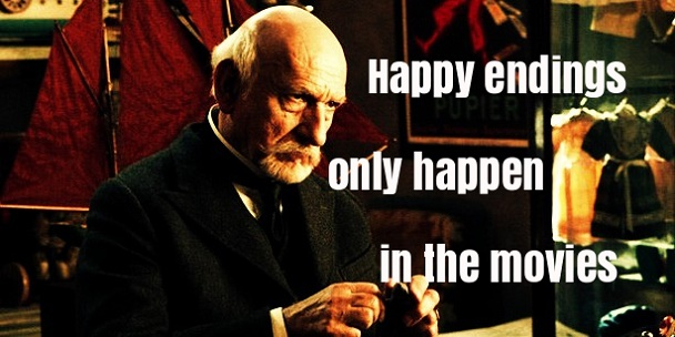 Ben Kingsley Hugo quote about happy endings