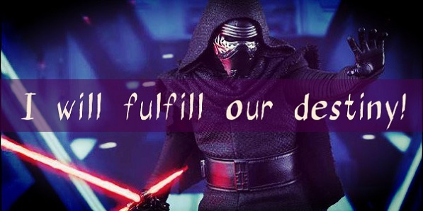 Kylo Ren Star Wars VII card with quote