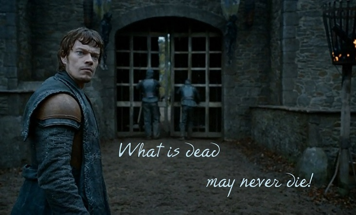 Game of thrones ecard with a death quote