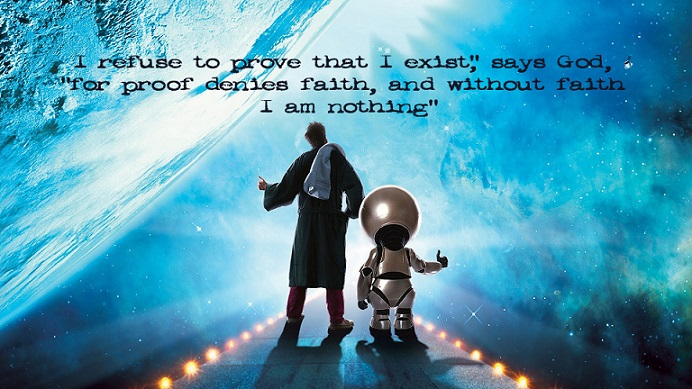 Ecard with a movie quote about god