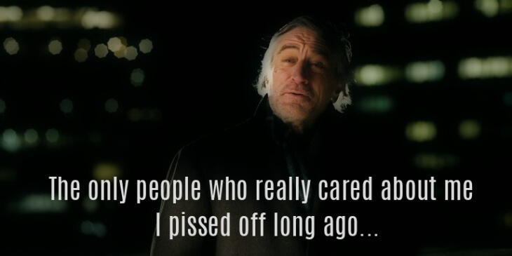Robert de Niro funny quote from New Year's Eve movie