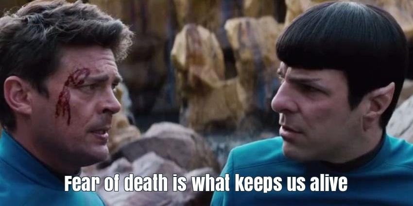 Spock and Bones in Stark Trek Beyond