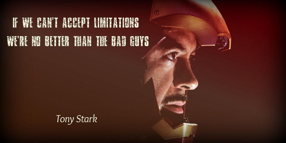 Tony Stark Civil War quote